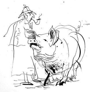 Cochon avec holmes