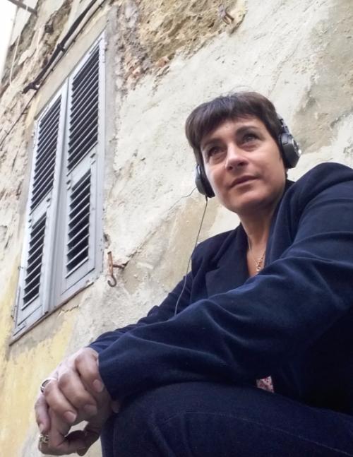 Elena Piacentini sur le tournage de Meutres à Bastia le 20 octobre 2016 DR